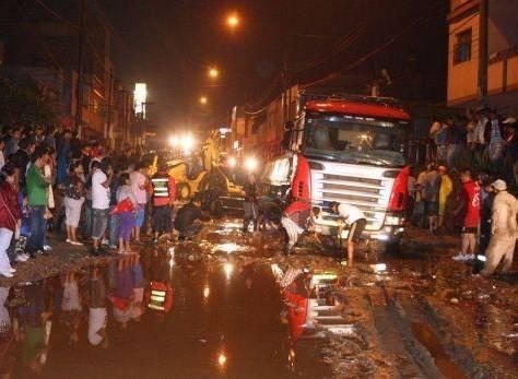 Chosica 25 viviendas afectadas tras 6 horas de lluvia