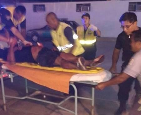 Ciudadano con cortes en el cuerpo fue socorrido por efectivos de serenazgo