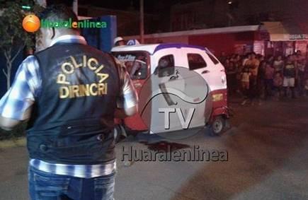 Disparan en la cabeza a mototaxista en el parque Buenos Aires - Huaral