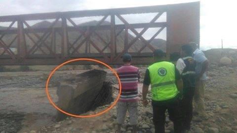 Huaral Puente Rojo de Palpa ha punto de colapsar