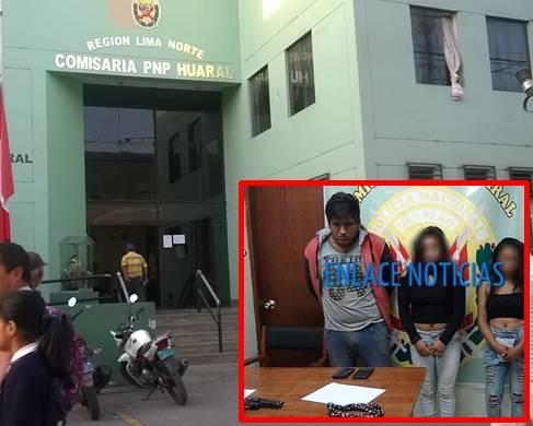 PNP de Huaral detiene a sujeto y dos menores por asaltar mototaxista