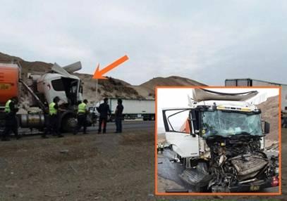 Violento  choque dejo un muerto  entre dos remolcadores en Panamericana Norte huaralenlinea