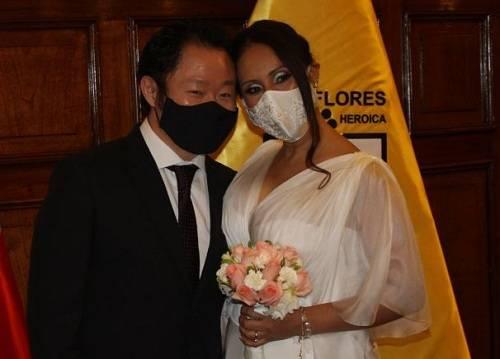 Kenji Fujimori se casó con empresaria en Municipalidad de Miraflores.