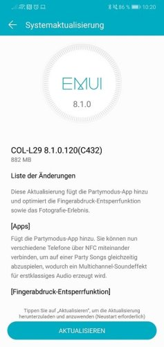 honor 10 Firmwareupdate 120