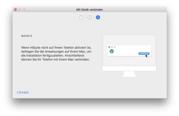 HiSuite für Mac - Start