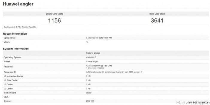 Huawei Nexus Geekbench Benchmark