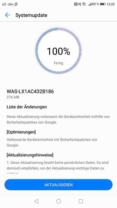Huawei P10 Lite WAS-LX1AC432B186 Firmware Update