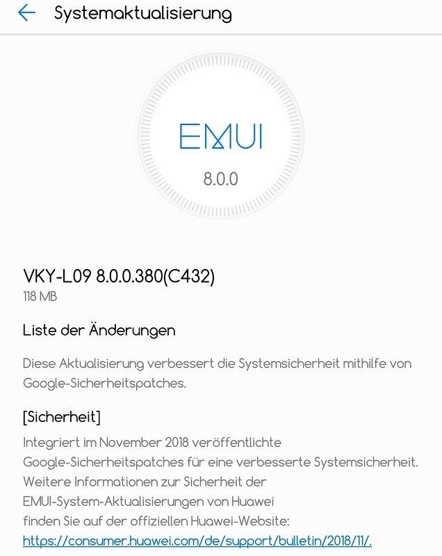 Huawei P10 Plus Sicherheitspatch Google