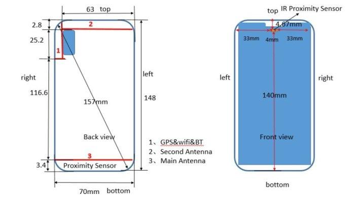 Huawei P20 lite - Maße - Notch - Kamera