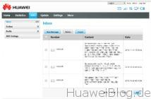 SMS Anzeige im Hotspot Portal