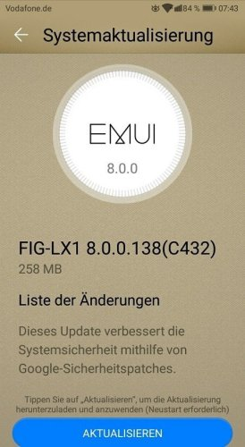 Huawei P smart Firmware Update 138