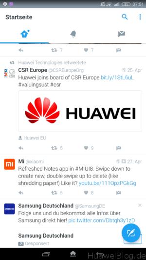 Twitter auf EMUI Android