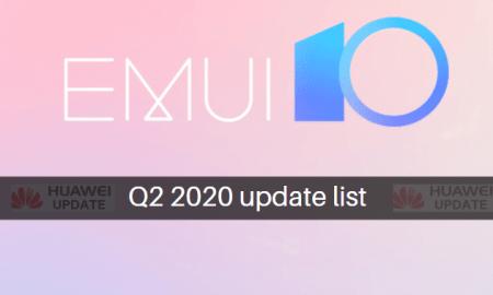 EMUI 10 Q2 2020 update list