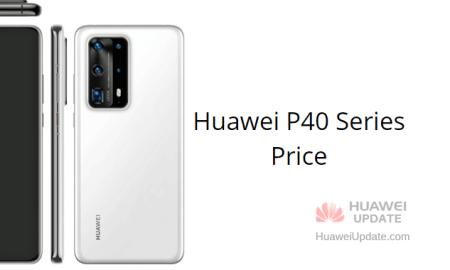 Huawei P40 series price
