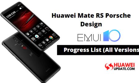 Huawei Mate RS Porsche Design EMUI 10 update
