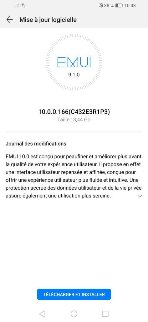 Huawei P Smart 2019 EMUI 10 France