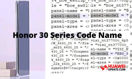 Honor 30 series Code name, 90hz