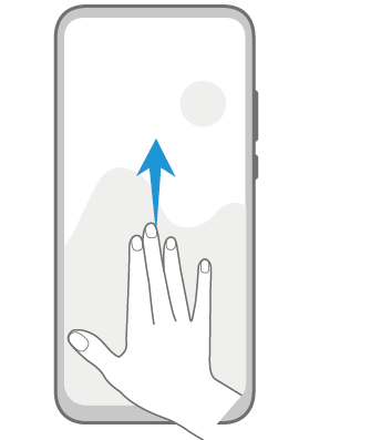 EMUI Split the screen Gesture