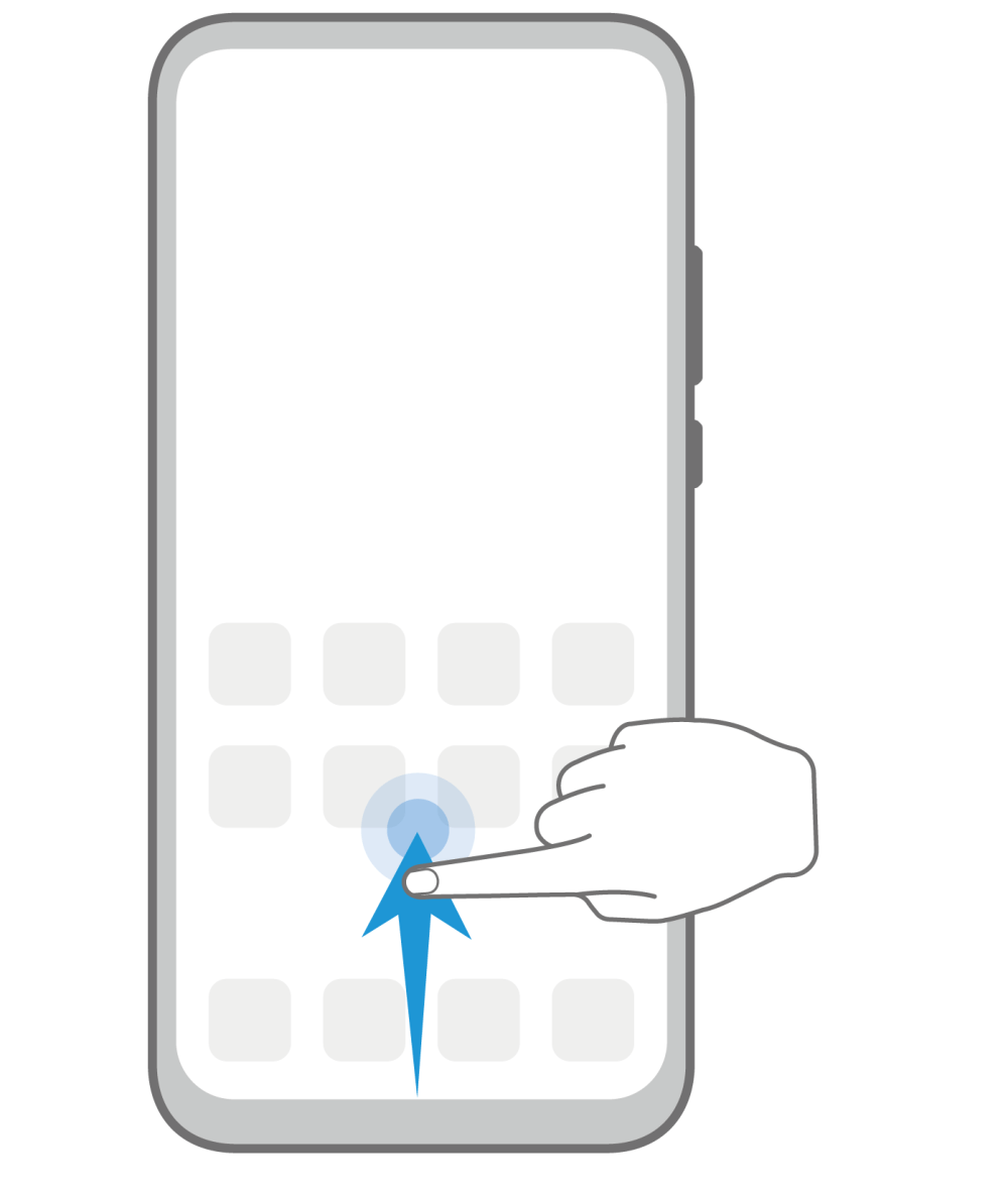 EMUI View recent tasks Gesture