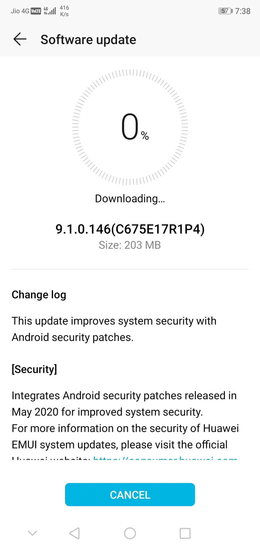 Honor 9N May 2020 update 9.1.0.146