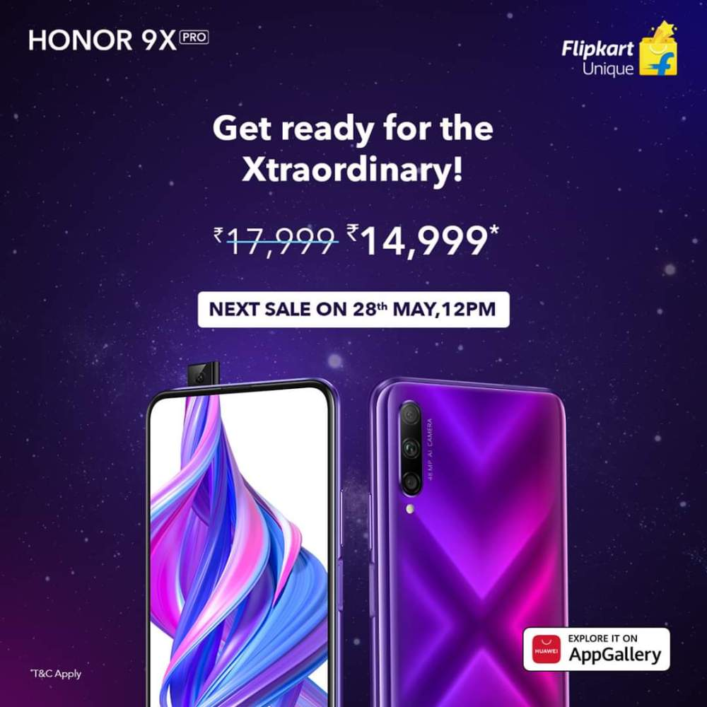 Honor 9X Pro Second Sale India