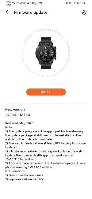 Honor MagicWatch 2 v1.0.7.16