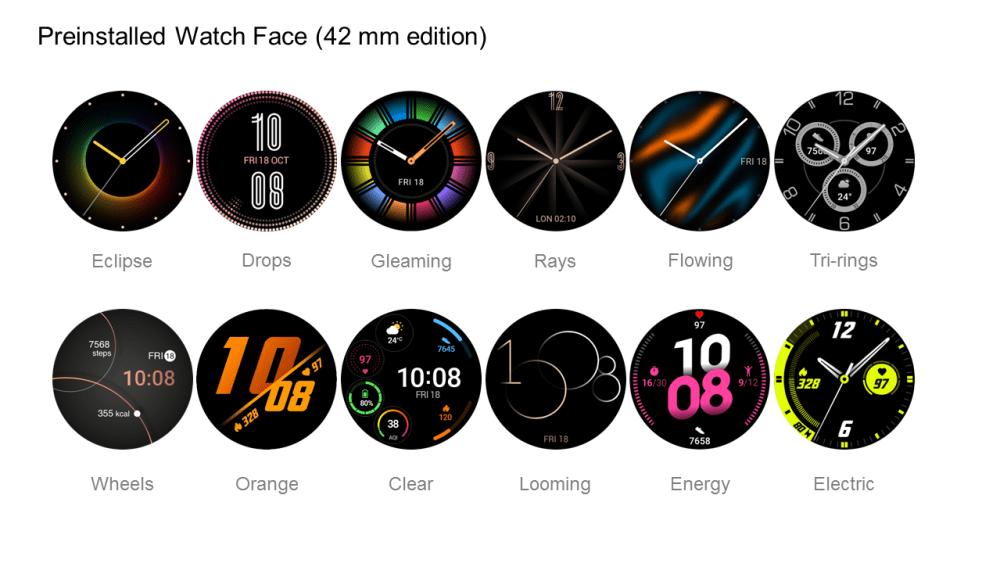 Huawei Watch GT 2 Pre-installed watch face 42mm