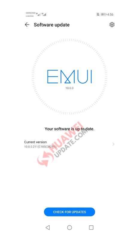 Huawei Y9s EMUI 10.0.0.191 and version 211