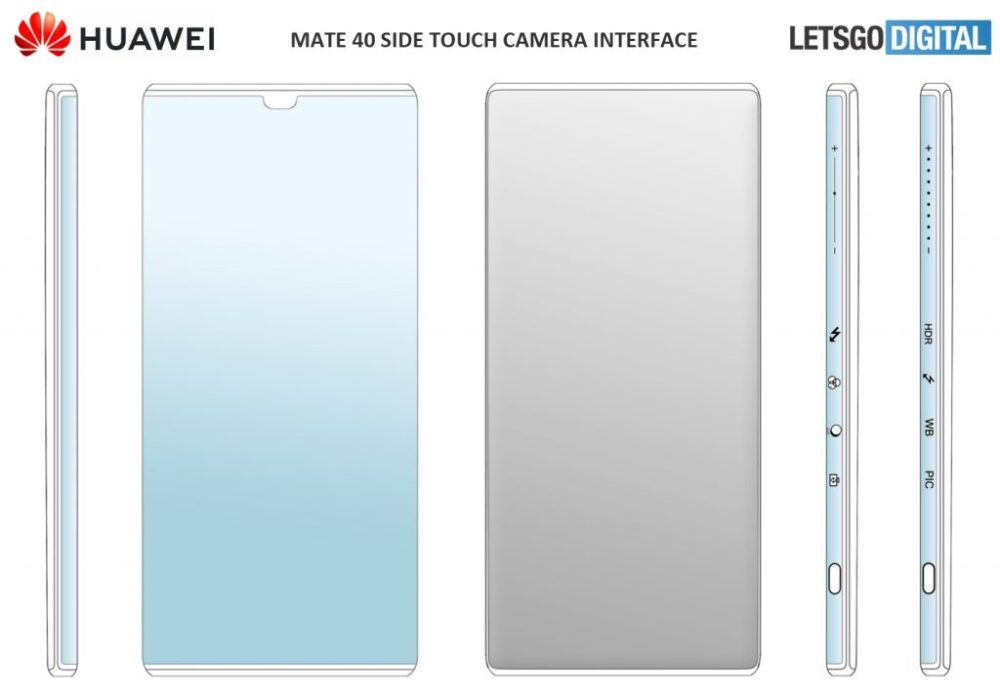 Huawei Mate 40 Side Touch Camera Interface
