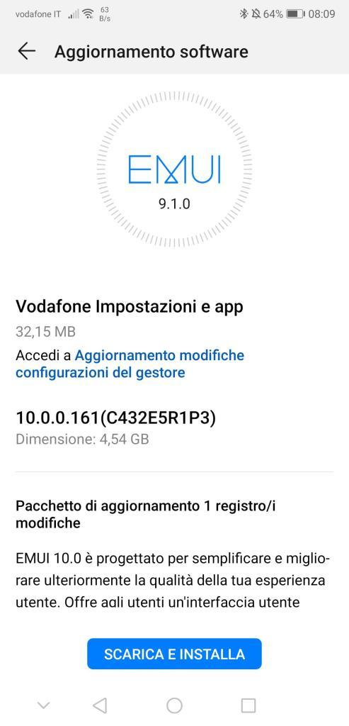Huawei P20 EMUI 10 Italy