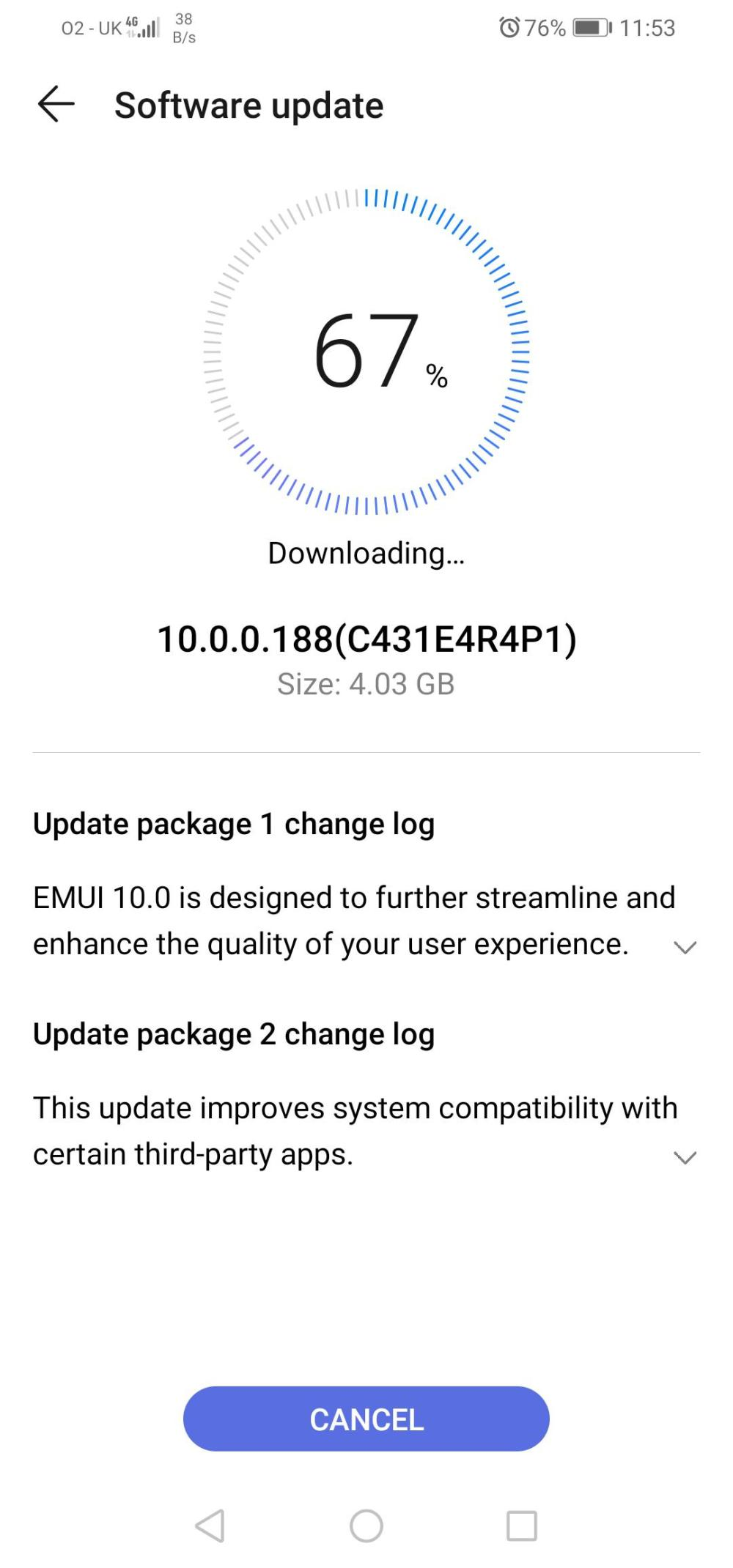 Huawei P30 Lite New Edition EMUI 10 UK
