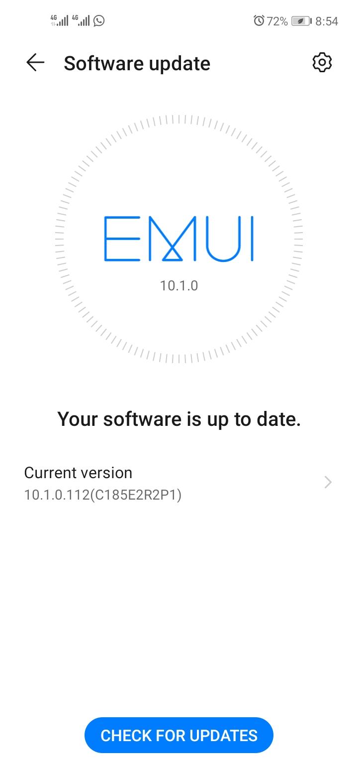 Huawei Y7p EMUI 10.1