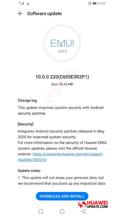Huawei Y9s EMUI 10.0.0.220
