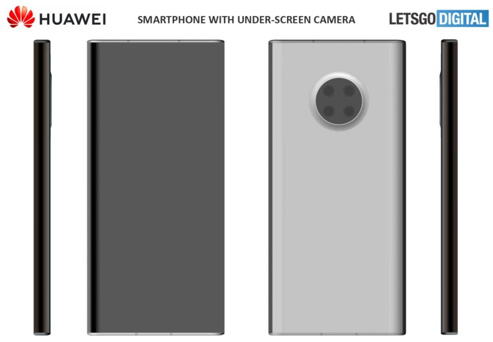 Huawei's under-screen camera phone patent