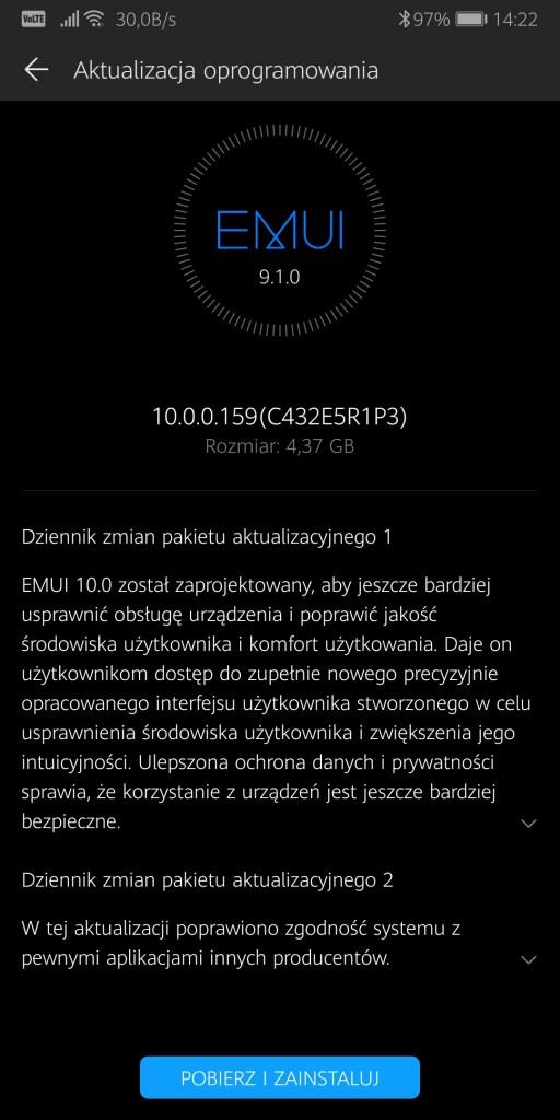 Mate 10 Pro EMUI 10 v159