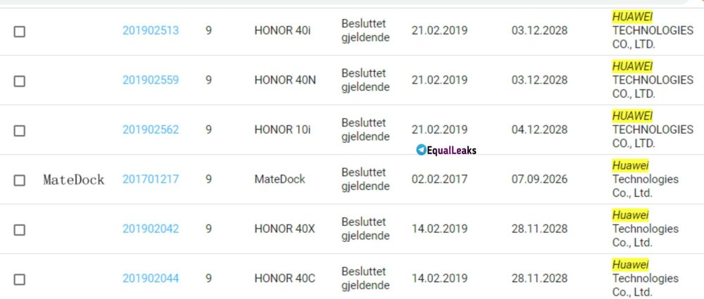 Honor 40 Series Naming leaked