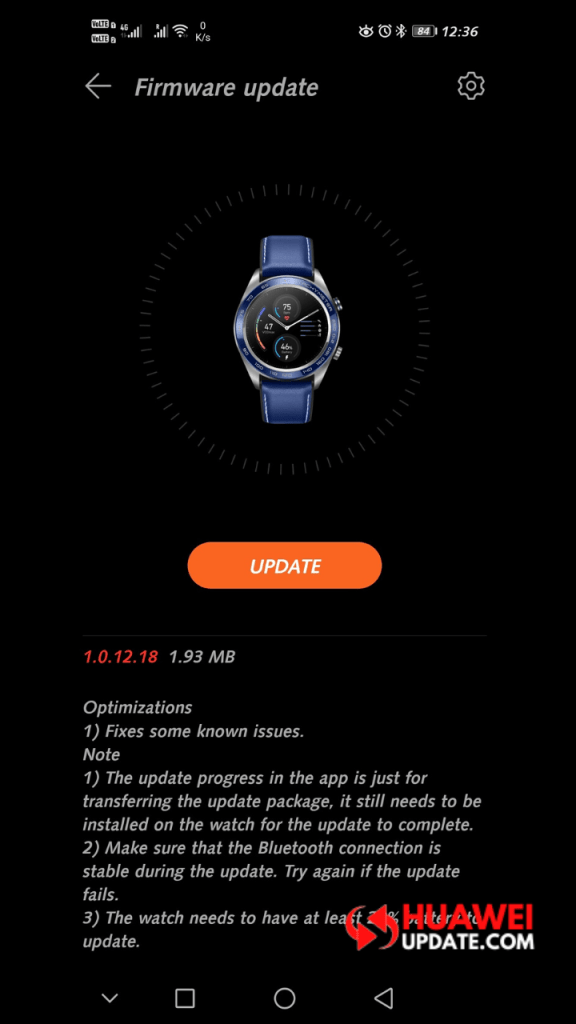 Honor Watch 1.0.12.18