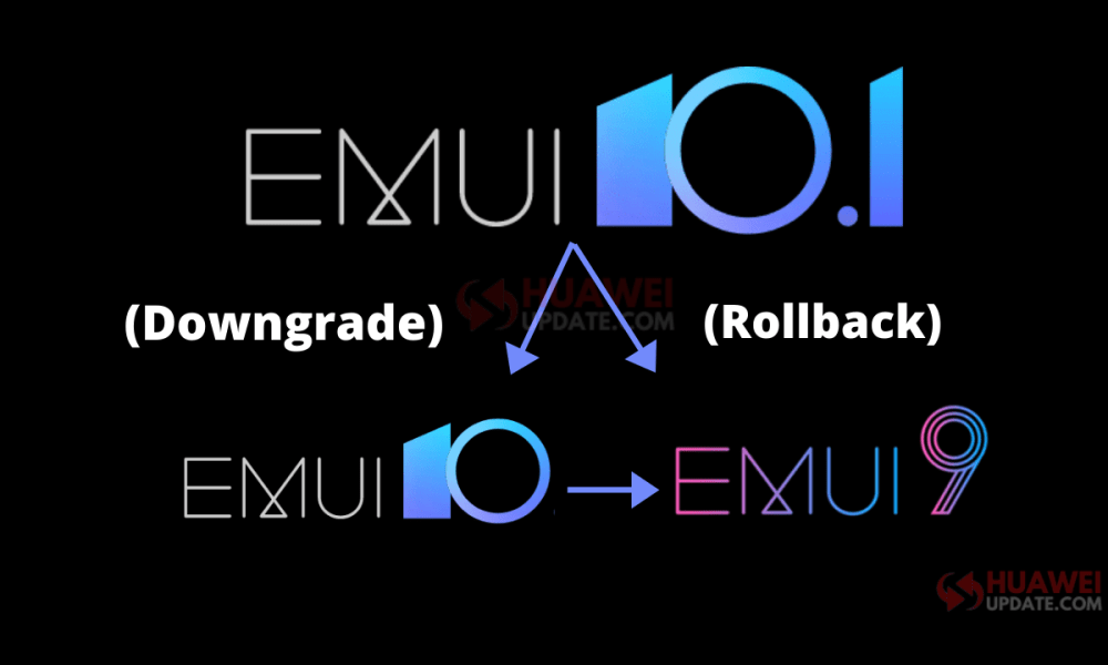 How to downgrade EMUI 10.1 to previous version