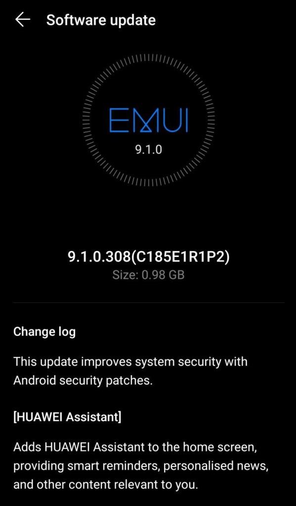 Huawei Nova 3i EMUI 9.1.0.308