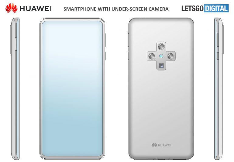 Huawei Smartphone with in-display selfie camera