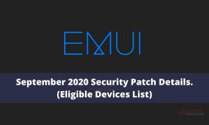 September 2020 EMUI and Magic UI security patch details