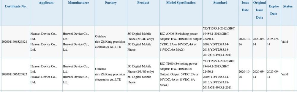Huawei-Nova-8-JSC-AN00-3C-Certification