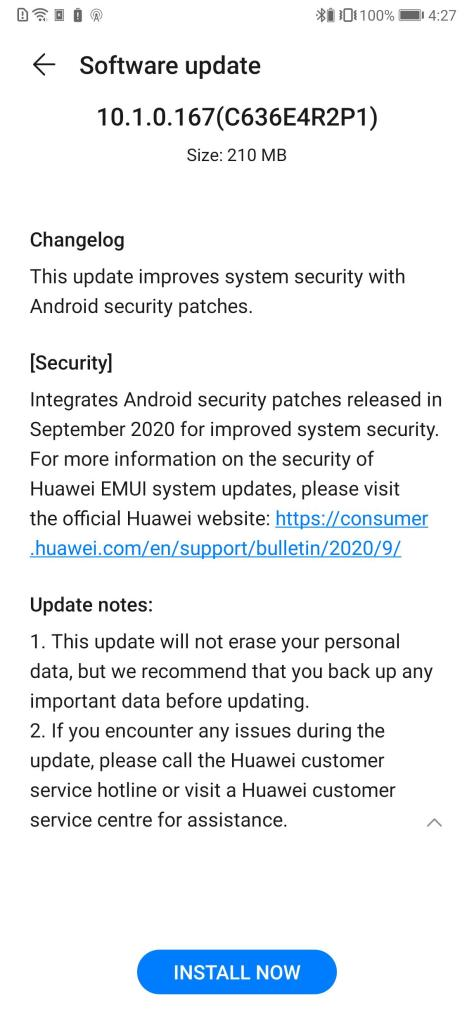 Mate Xs September Patch 2020