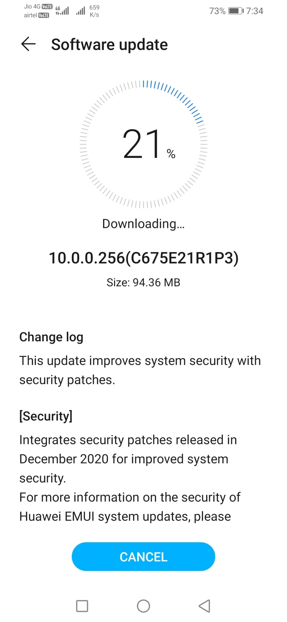 Honor 10 Lite December 2020 patch