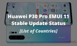 Huawei P30 Pro EMUI 11 Stable update status