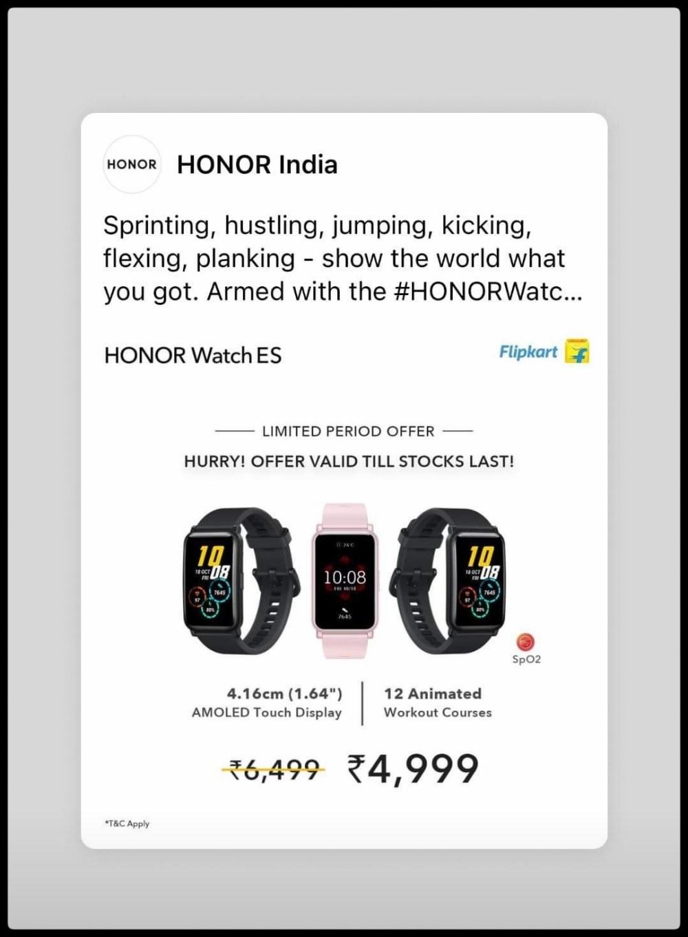 Honor Watch ES Deal