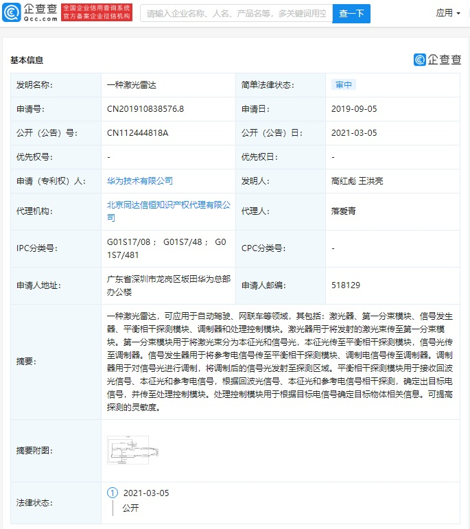 Huawei New Patent Application