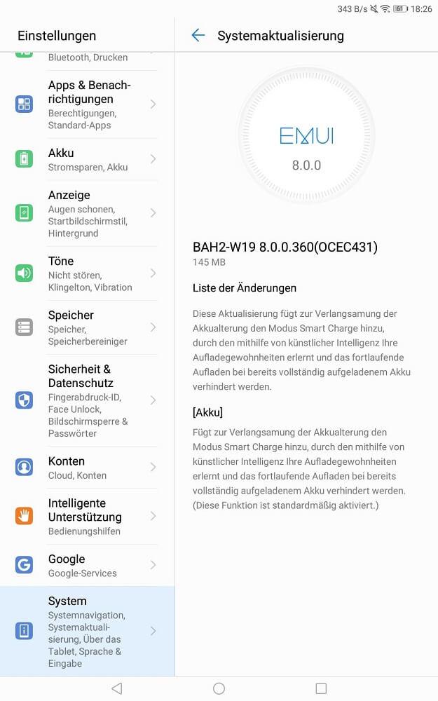 Huawei MediaPad M5 Lite Smart Charge