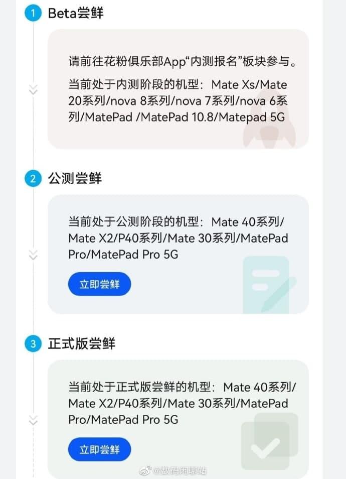 These Huawei phones getting HarmonyOS 2.0 beta