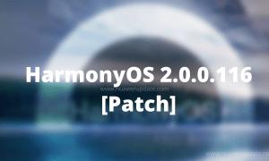 HarmonyOS 2.0.0.116 patch